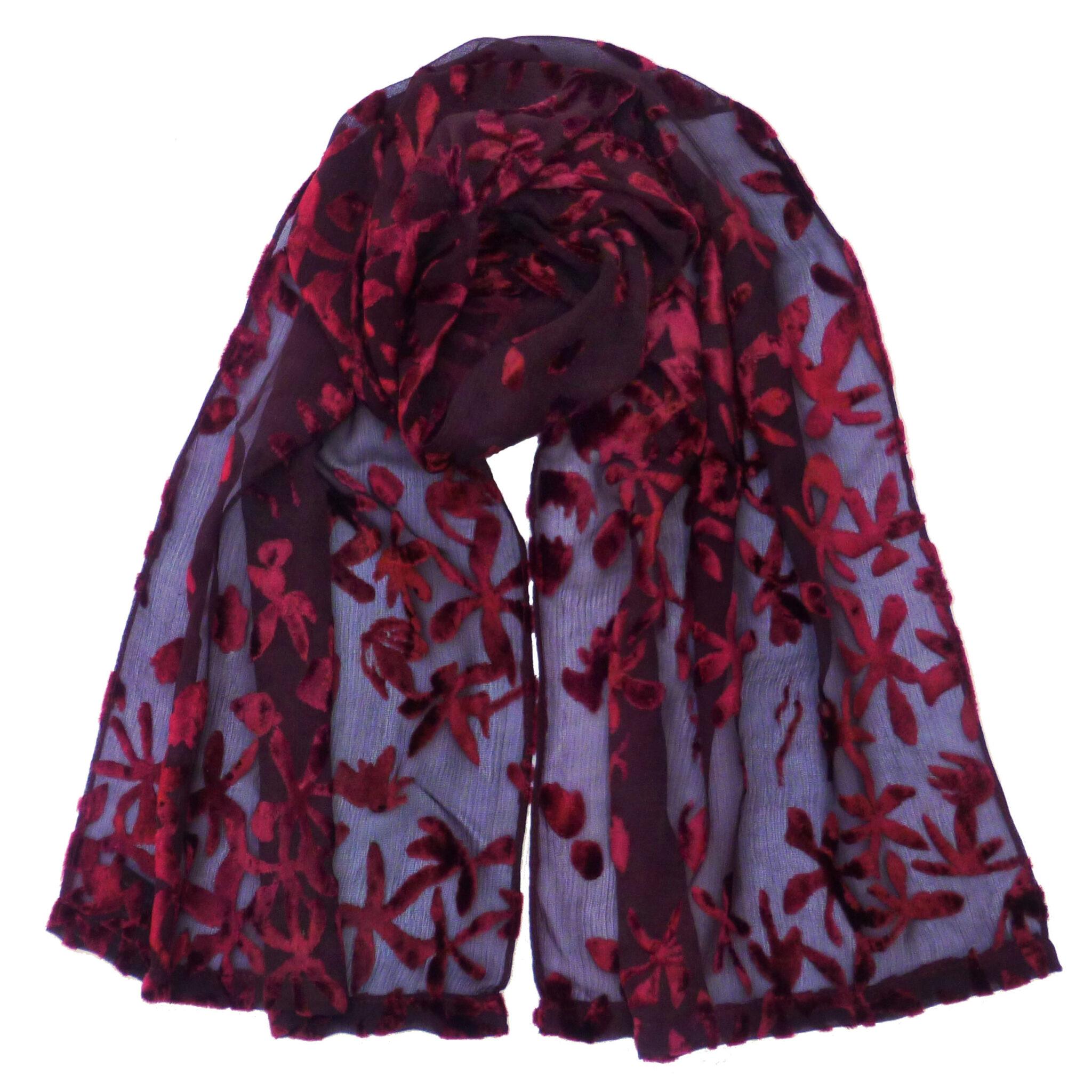 s scarves crepe silk devore small scarf