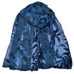 crepe silk devore passionflower petrol