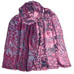 crepe silk devore mimosa pink