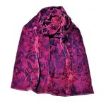 Pink double velvet scarf clematis